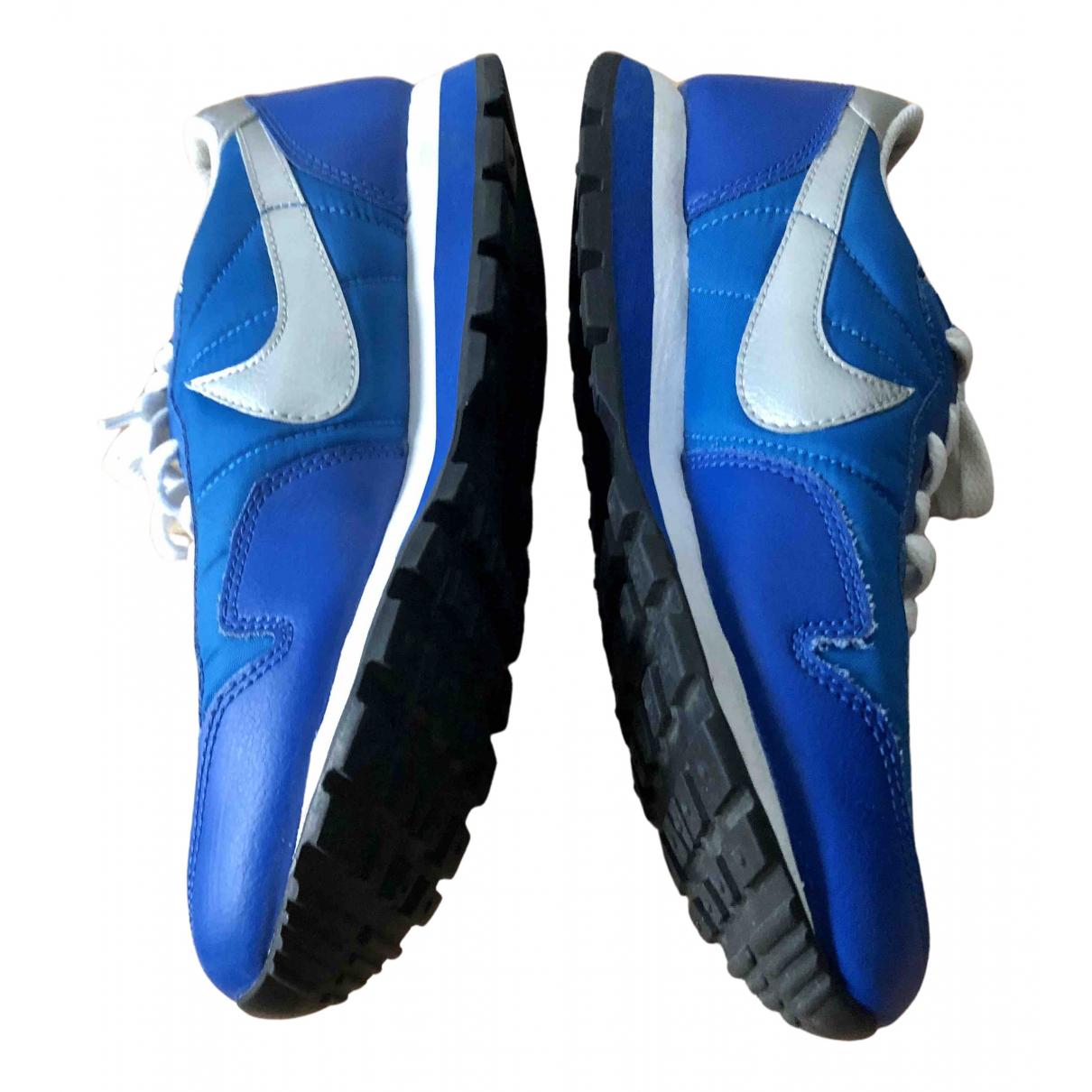 Nike - Baskets   pour femme en cuir - bleu