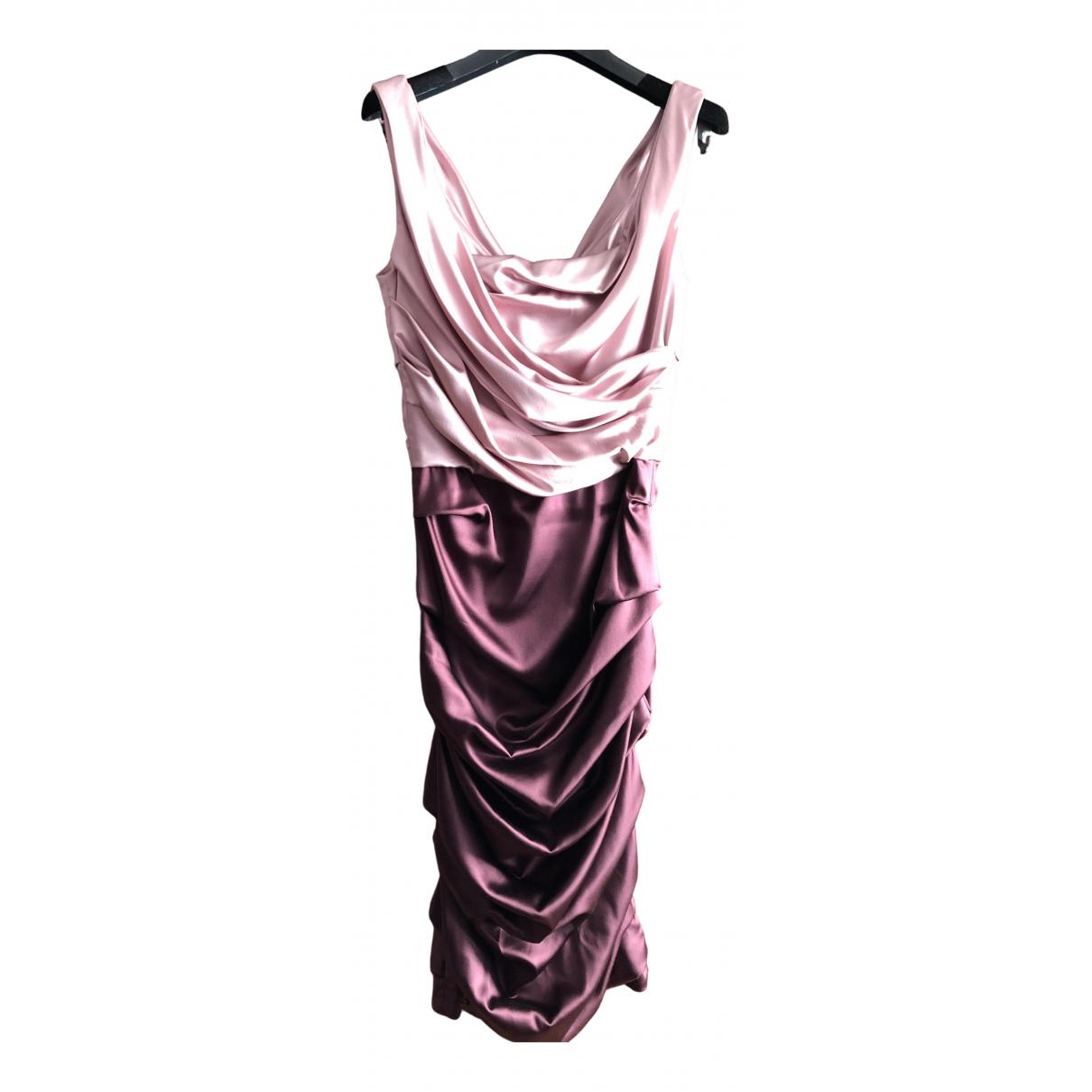 Dolce & Gabbana \N Purple Silk dress for Women 40 IT