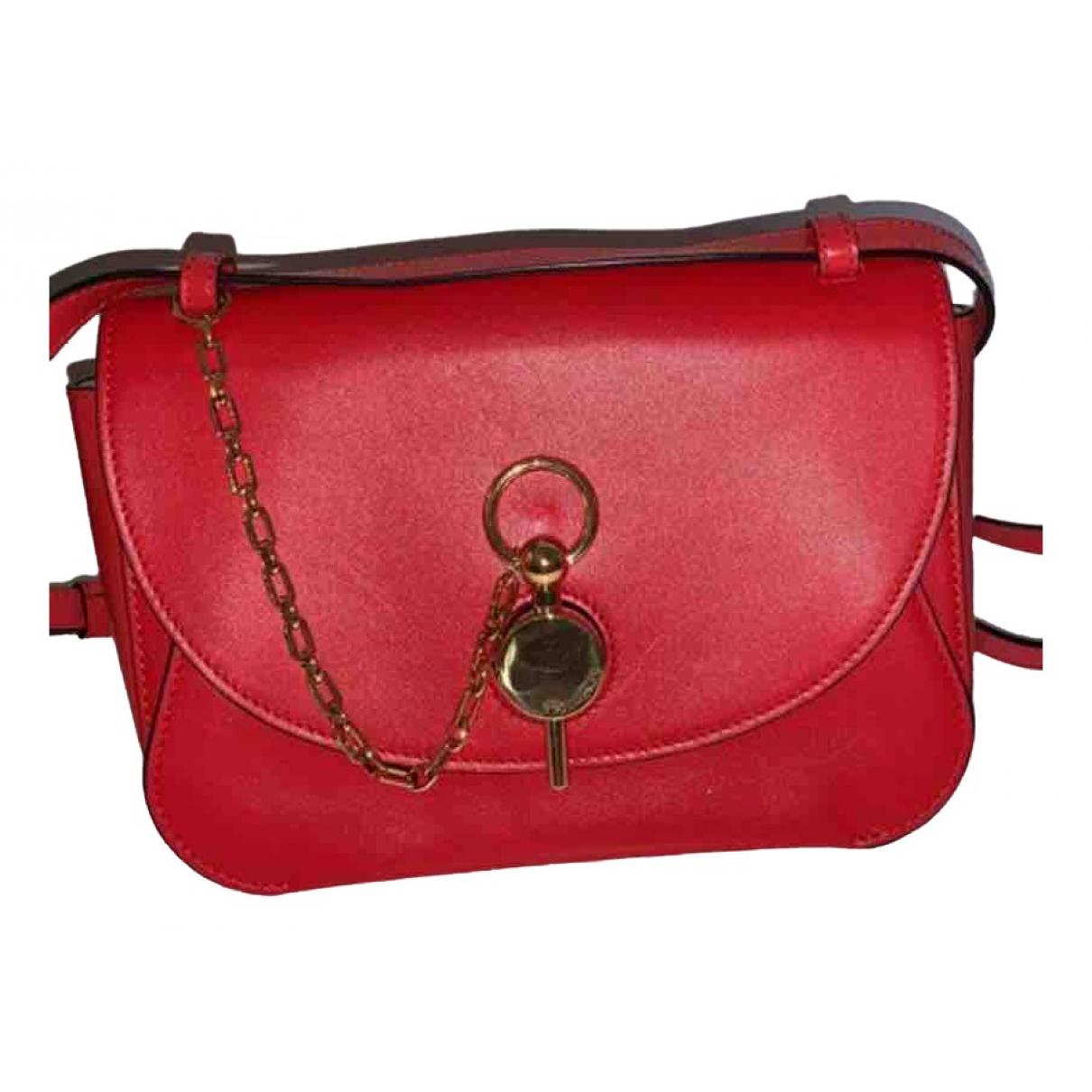 J.w. Anderson \N Handtasche in  Rot Leder