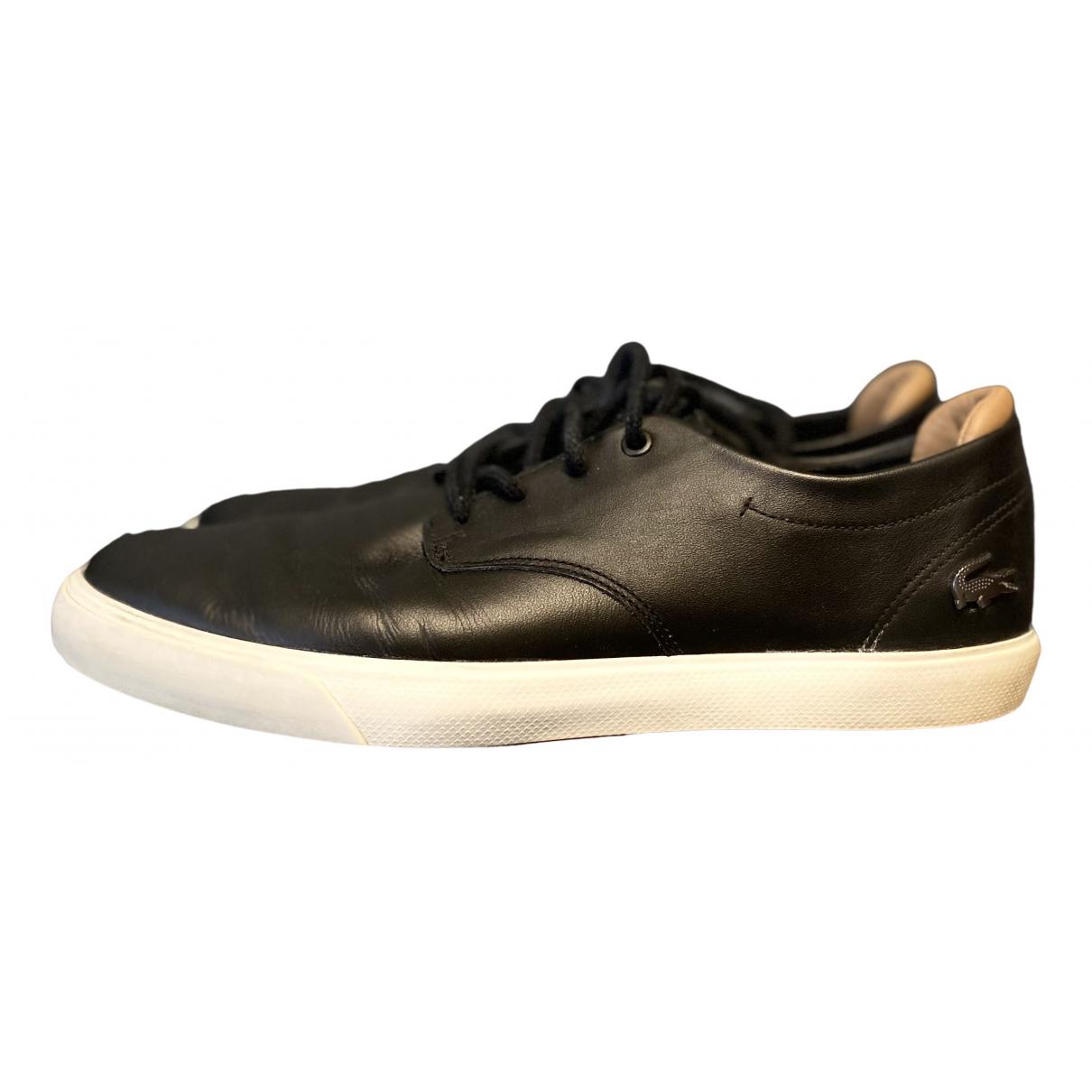 Lacoste \N Sneakers in  Schwarz Leder