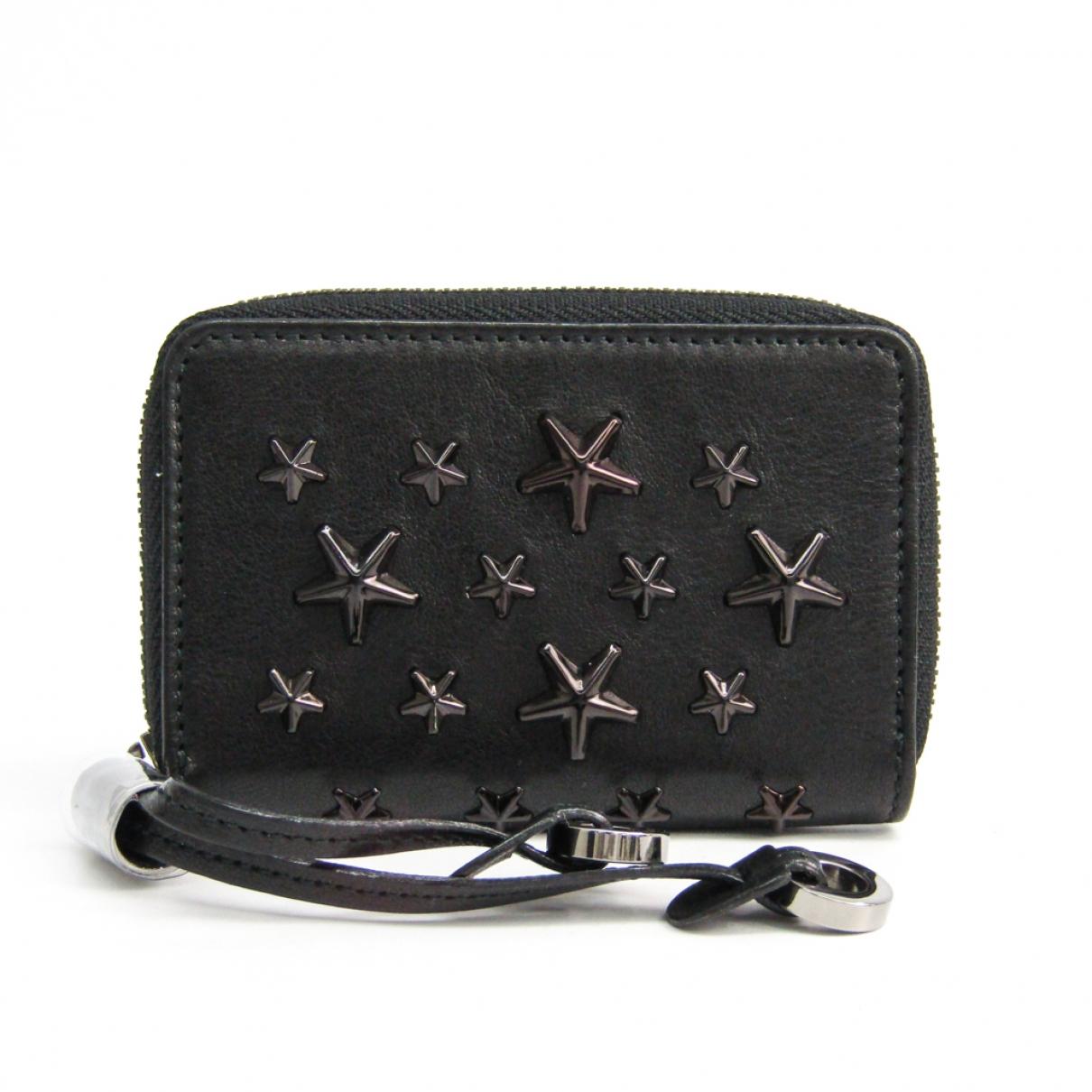 Jimmy Choo \N Black Leather wallet for Women \N