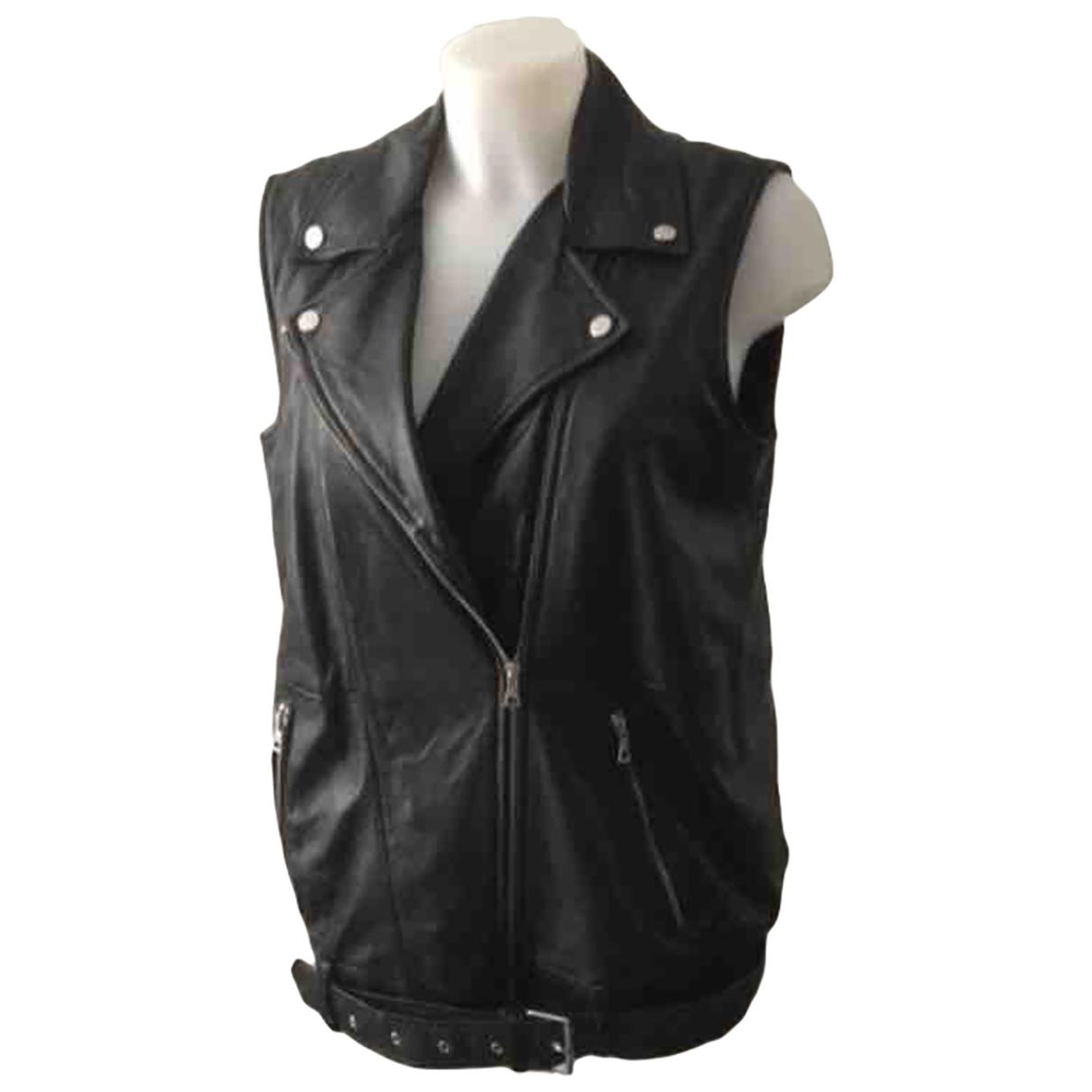 Zara \N Black Leather Knitwear for Women M International