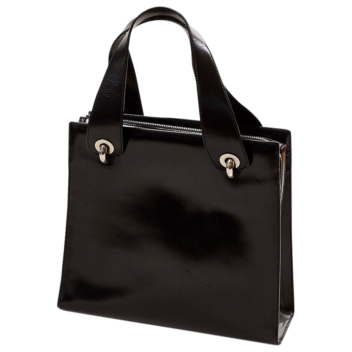 Non Signé / Unsigned \N Black Leather handbag for Women \N