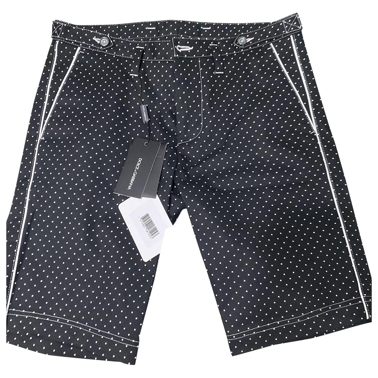 Dolce & Gabbana \N Black Cotton Shorts for Men 46 IT