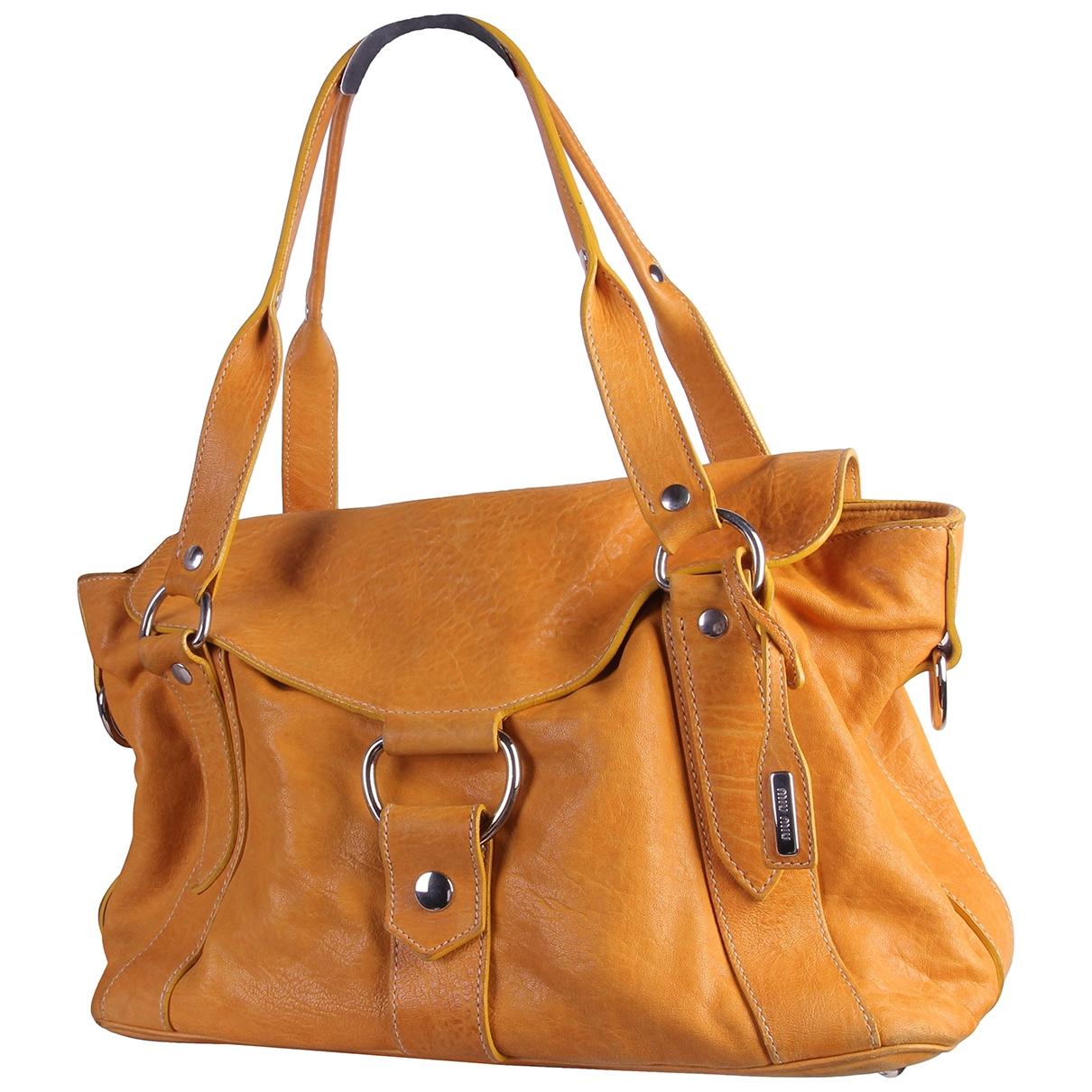 Miu Miu \N Yellow Leather handbag for Women \N