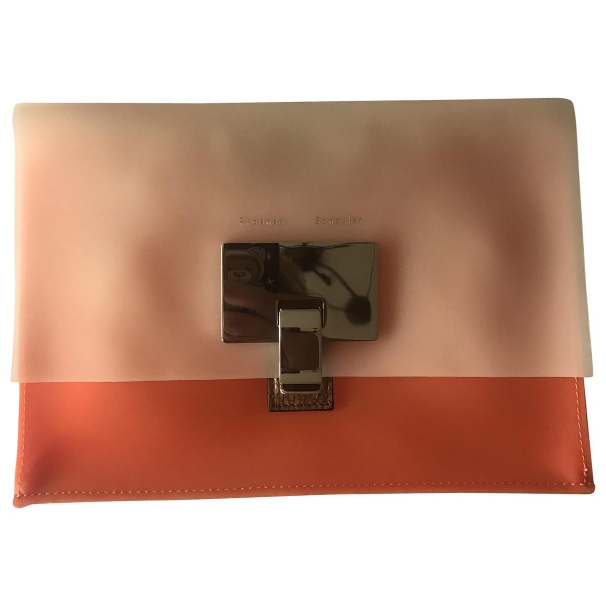 Bolsos clutch Lunch en Plastico Naranja Proenza Schouler