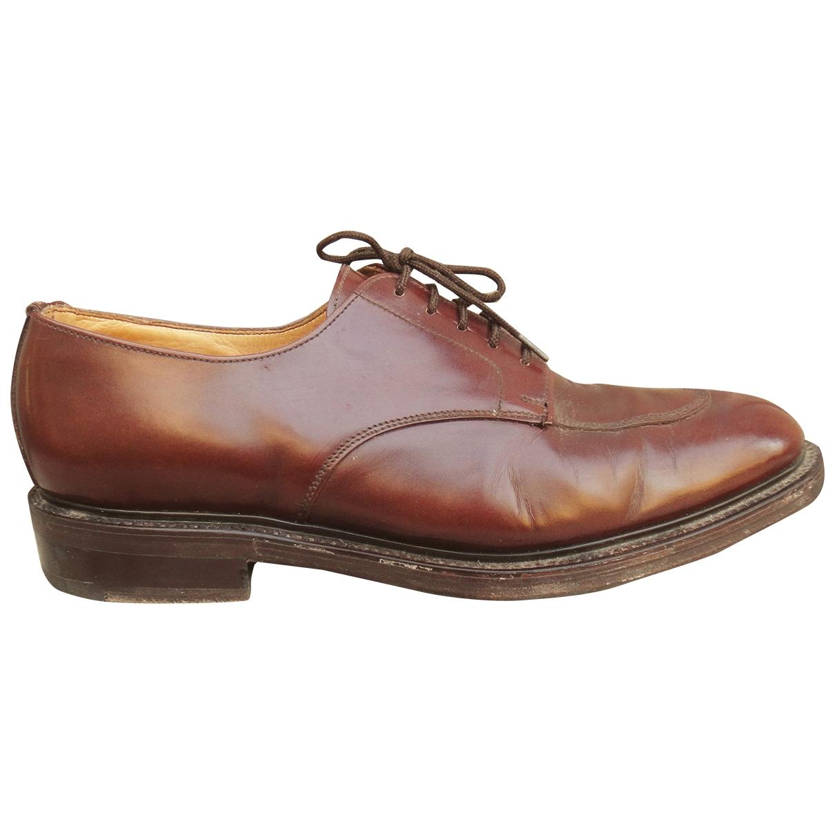 - Derbies   pour homme en cuir - marron