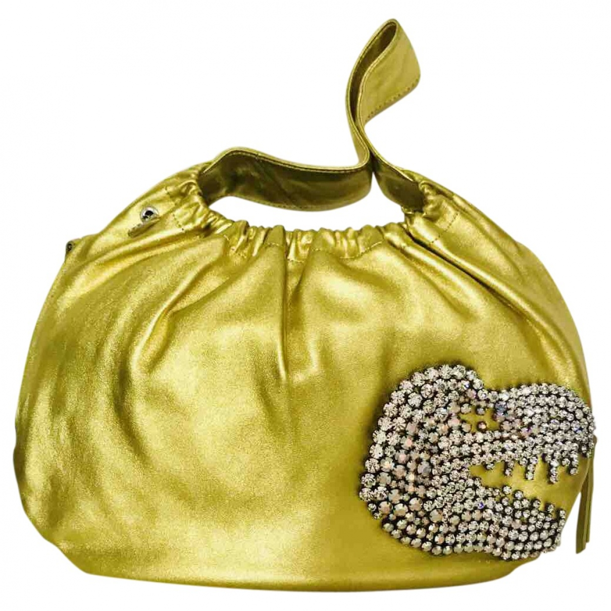 Non Signé / Unsigned \N Gold Leather handbag for Women \N