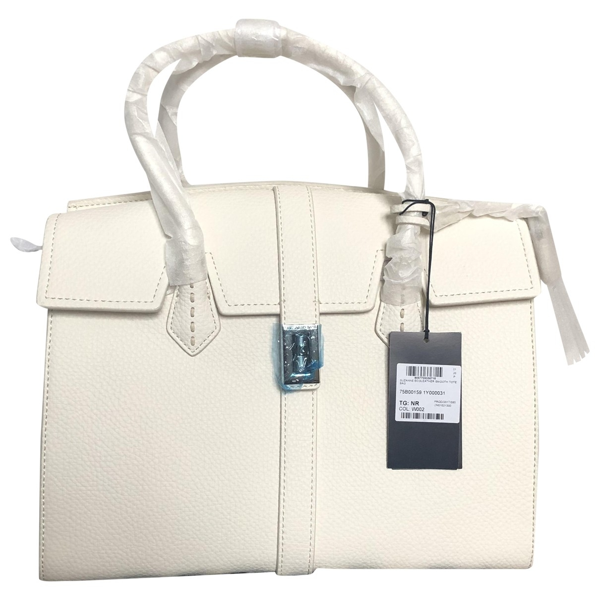 Trussardi \N Handtasche in  Weiss Leder