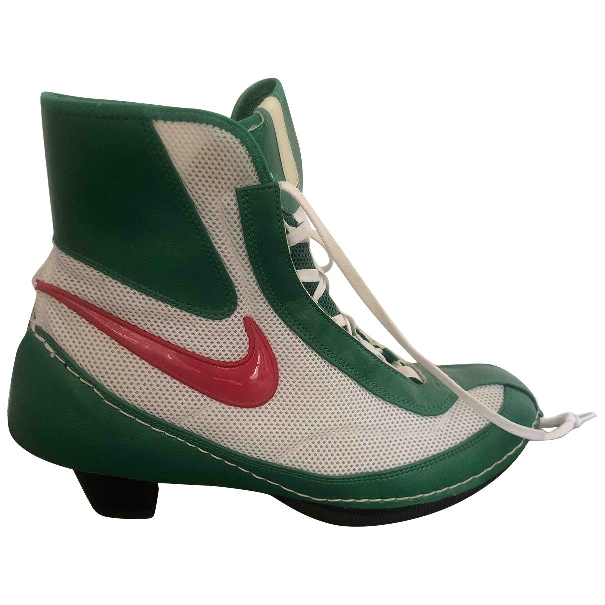 Nike X Comme Des Garcons - Escarpins Machomai pour femme en toile - vert