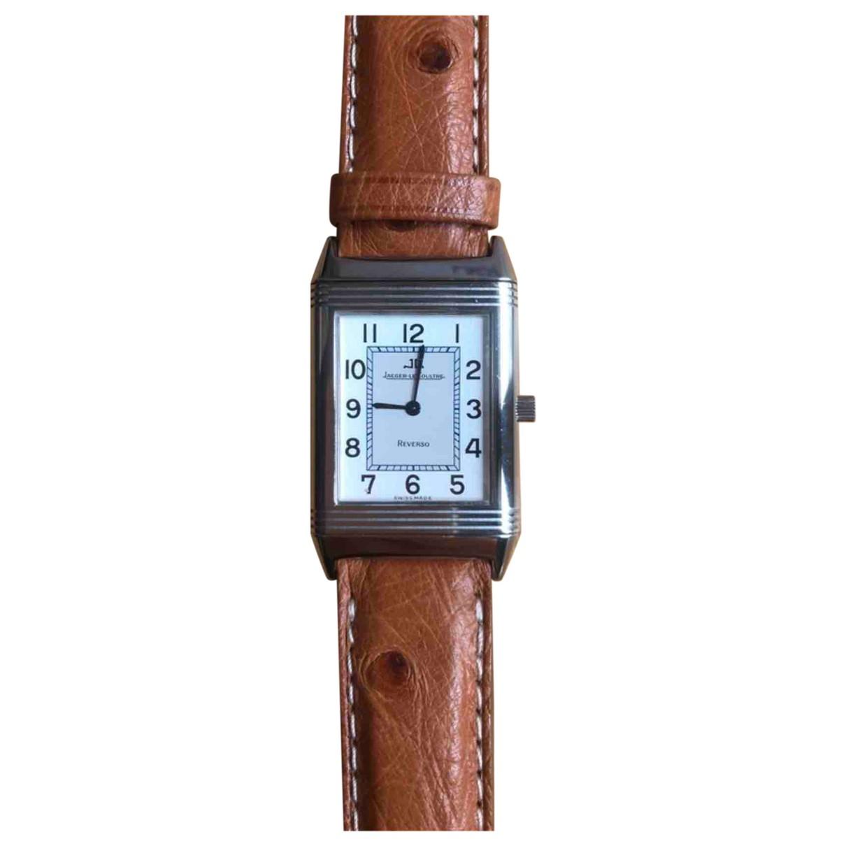 Jaeger-lecoultre Reverso Quartz Uhr in  Silber Stahl