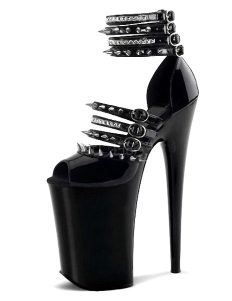 Milanoo Sandalias sexy sandalias de plataforma de remaches