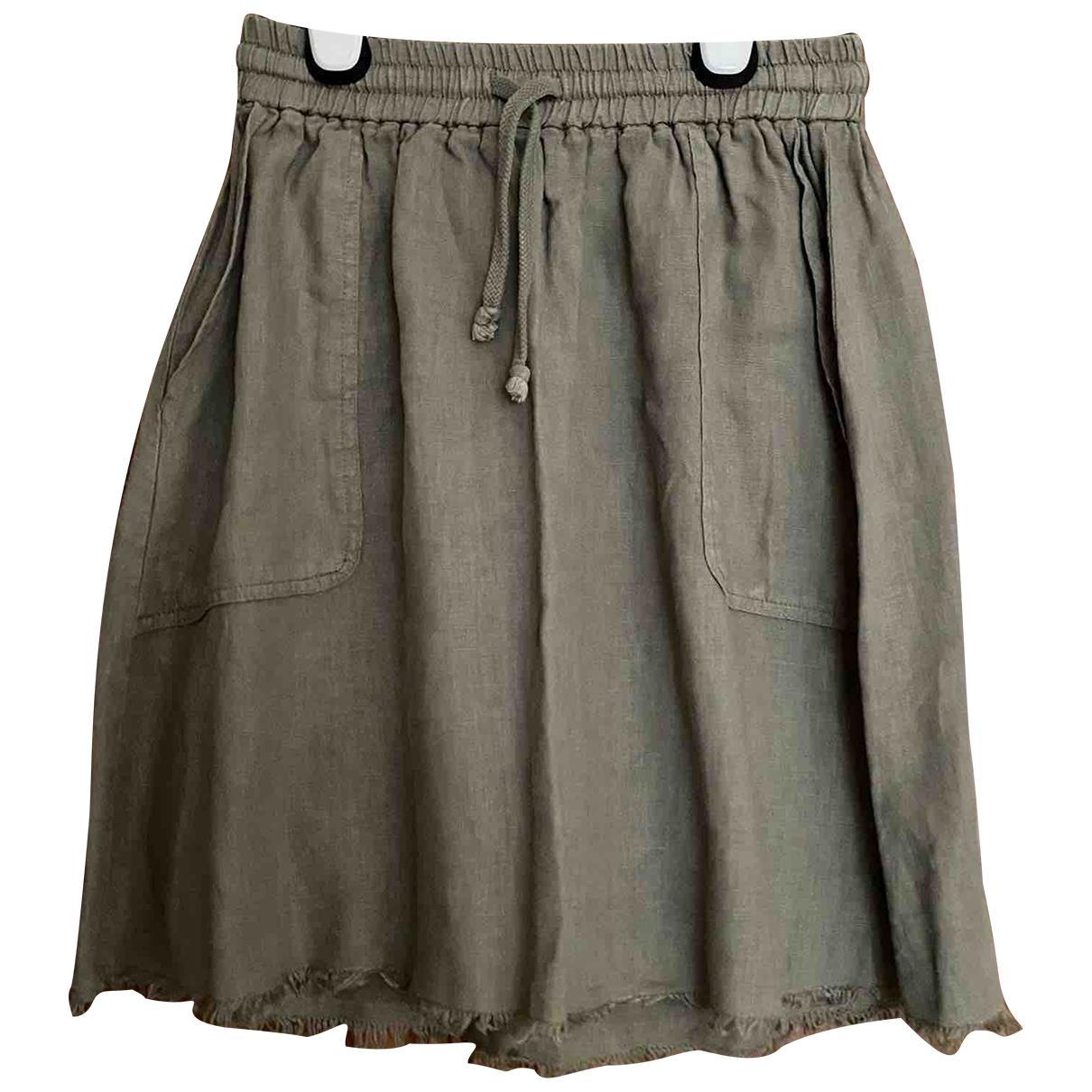 American Vintage N Khaki Linen skirt for Women S International