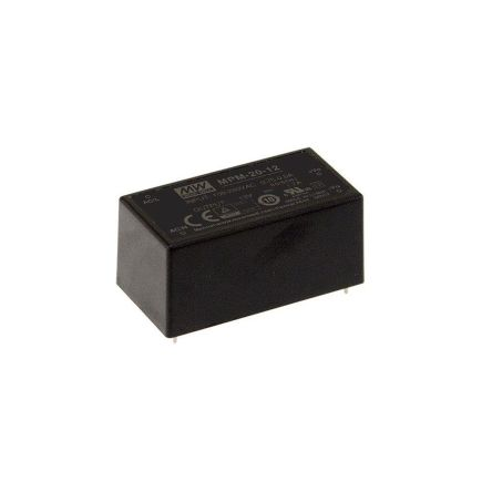 Mean Well , 21W Encapsulated Switch Mode Power Supply, 15V dc, Encapsulated, Medical Approved