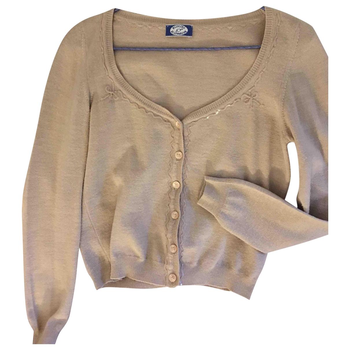 Blumarine \N Beige Wool Knitwear for Women 40 IT