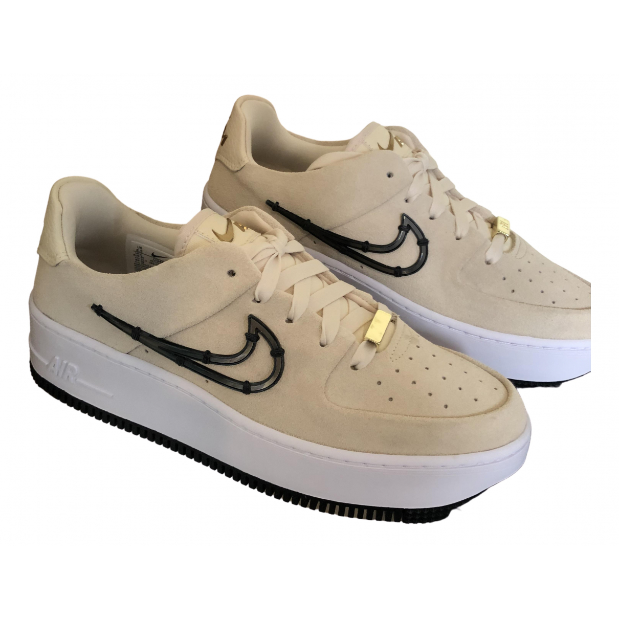 Nike Air Force 1 Beige Suede Trainers for Women 6 UK