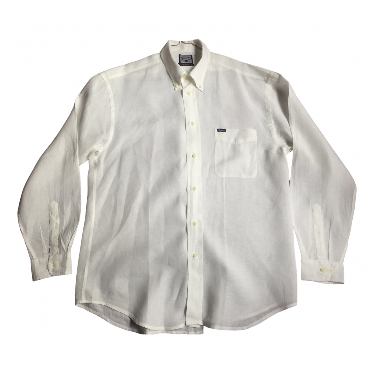 Faconnable \N White Linen Shirts for Men XL International