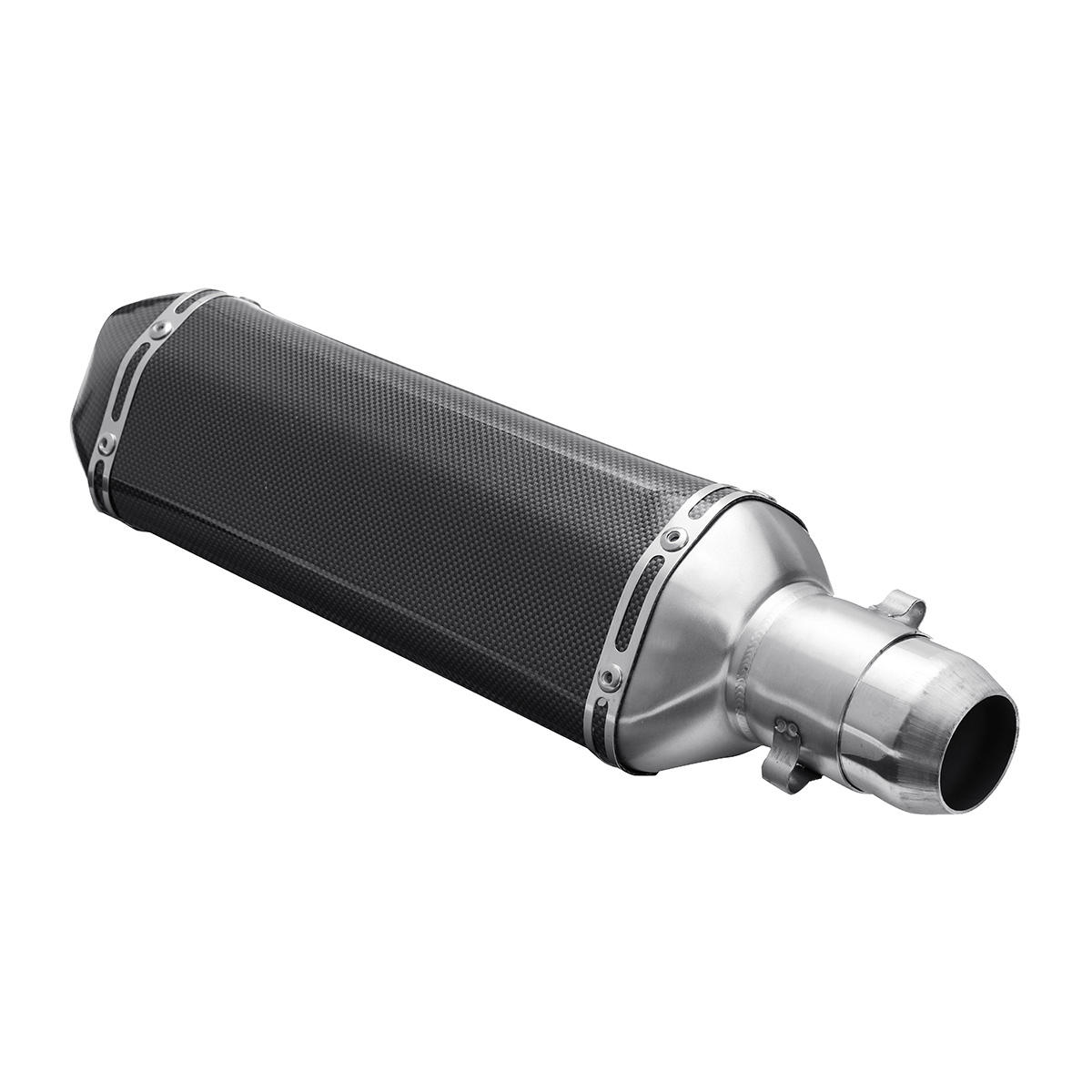 38mm-51mm Motorcycle Exhaust Muffler With Removable Silencer Carbon fiber Color