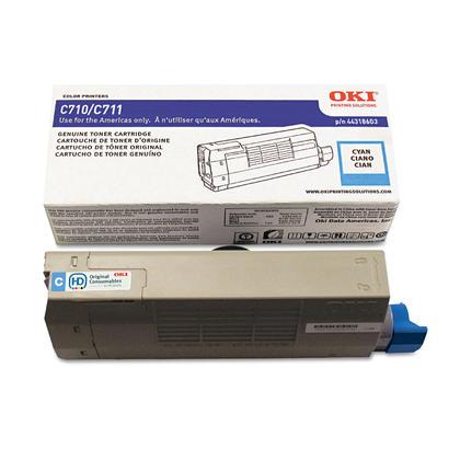 Okidata 44318603 Original Cyan Toner Cartridge for C711 Printer