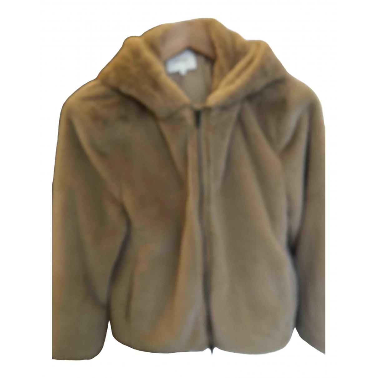 Vince N Beige Faux fur jacket for Women 34 FR