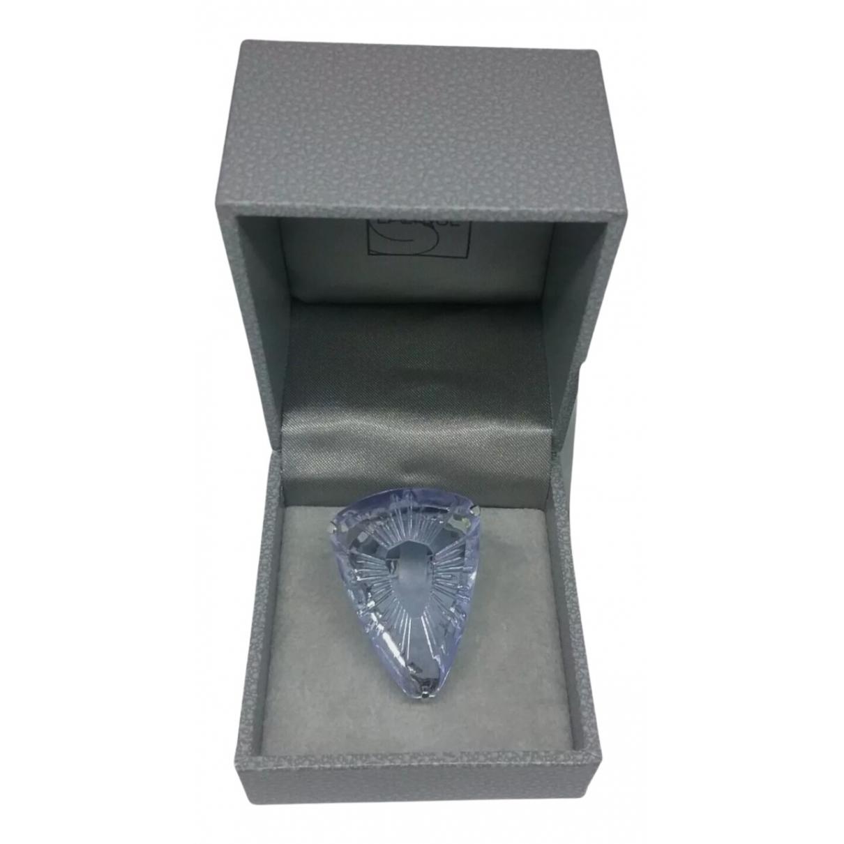 Lalique - Bague   pour femme en argent - violet