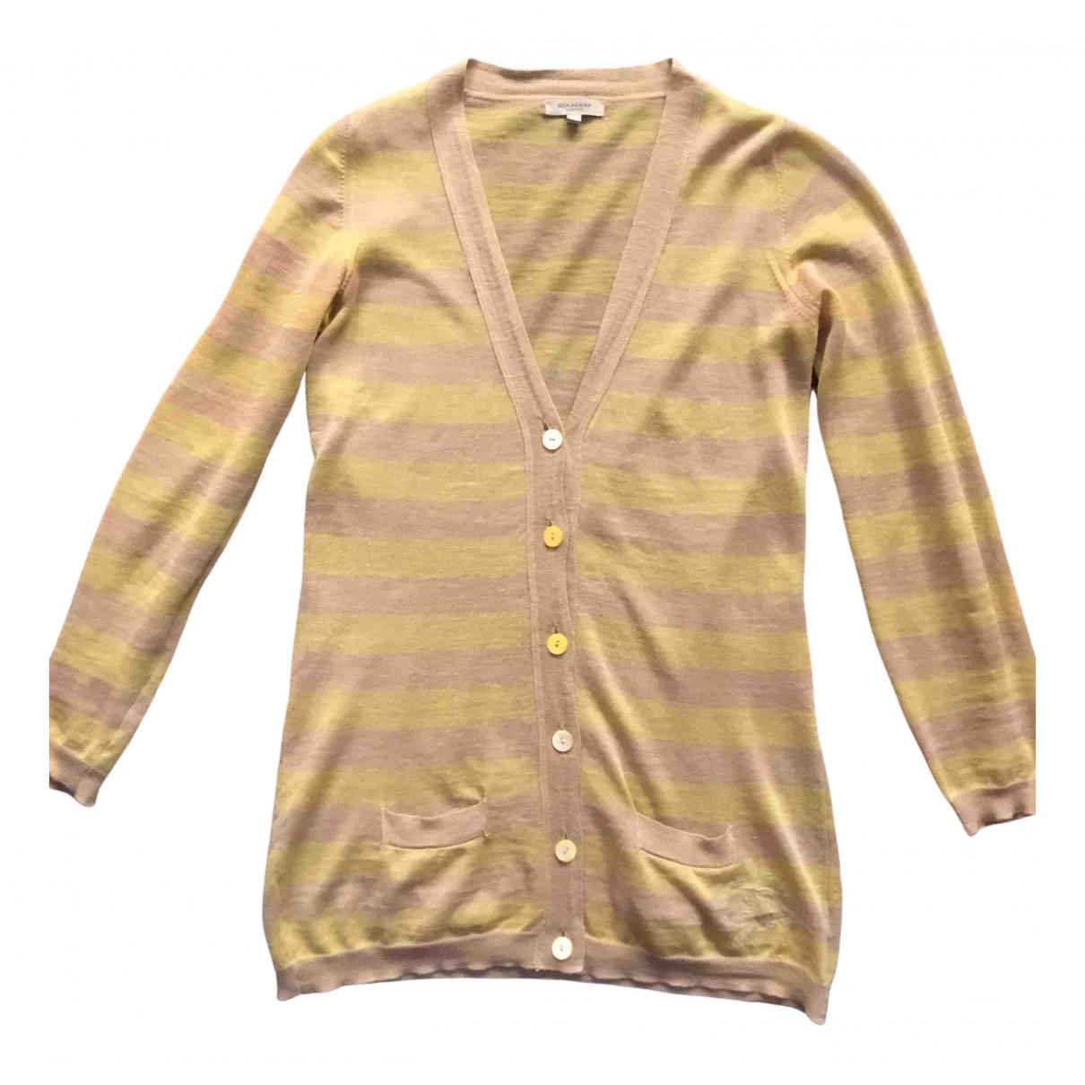 Burberry - Pull   pour femme en coton - dore