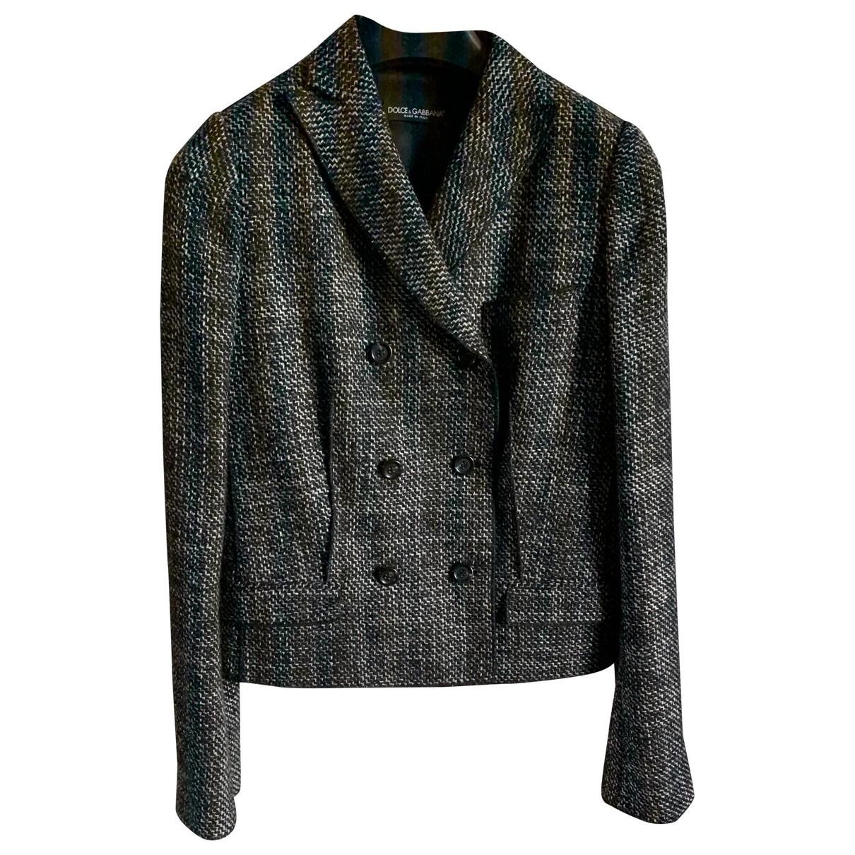 Dolce & Gabbana \N Jacke in  Anthrazit Wolle