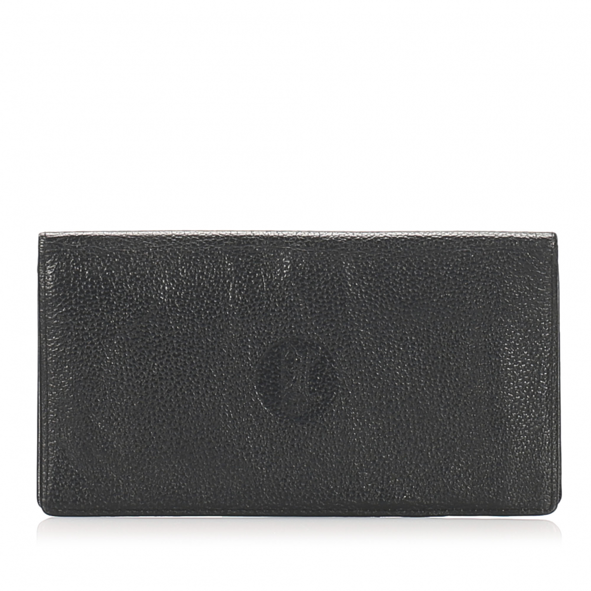 Celine \N Portemonnaie in  Schwarz Leder