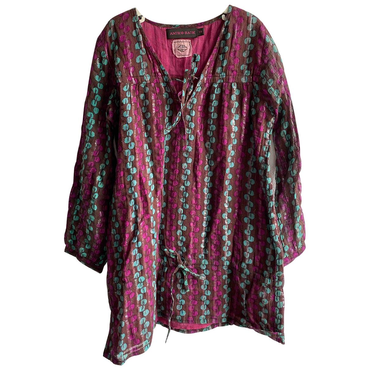 Antik Batik \N Burgundy Cotton dress for Kids 8 years - until 50 inches UK