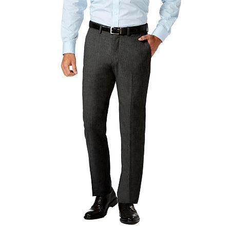 JM Haggar Slim Fit Flat Front Pant, 34 29, Black