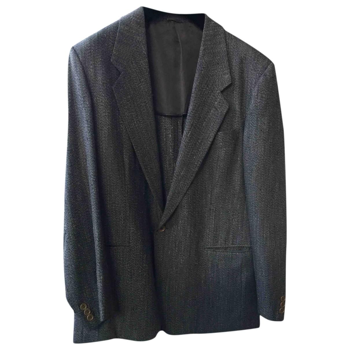 Giorgio Armani \N Grey Silk jacket  for Men 52 IT