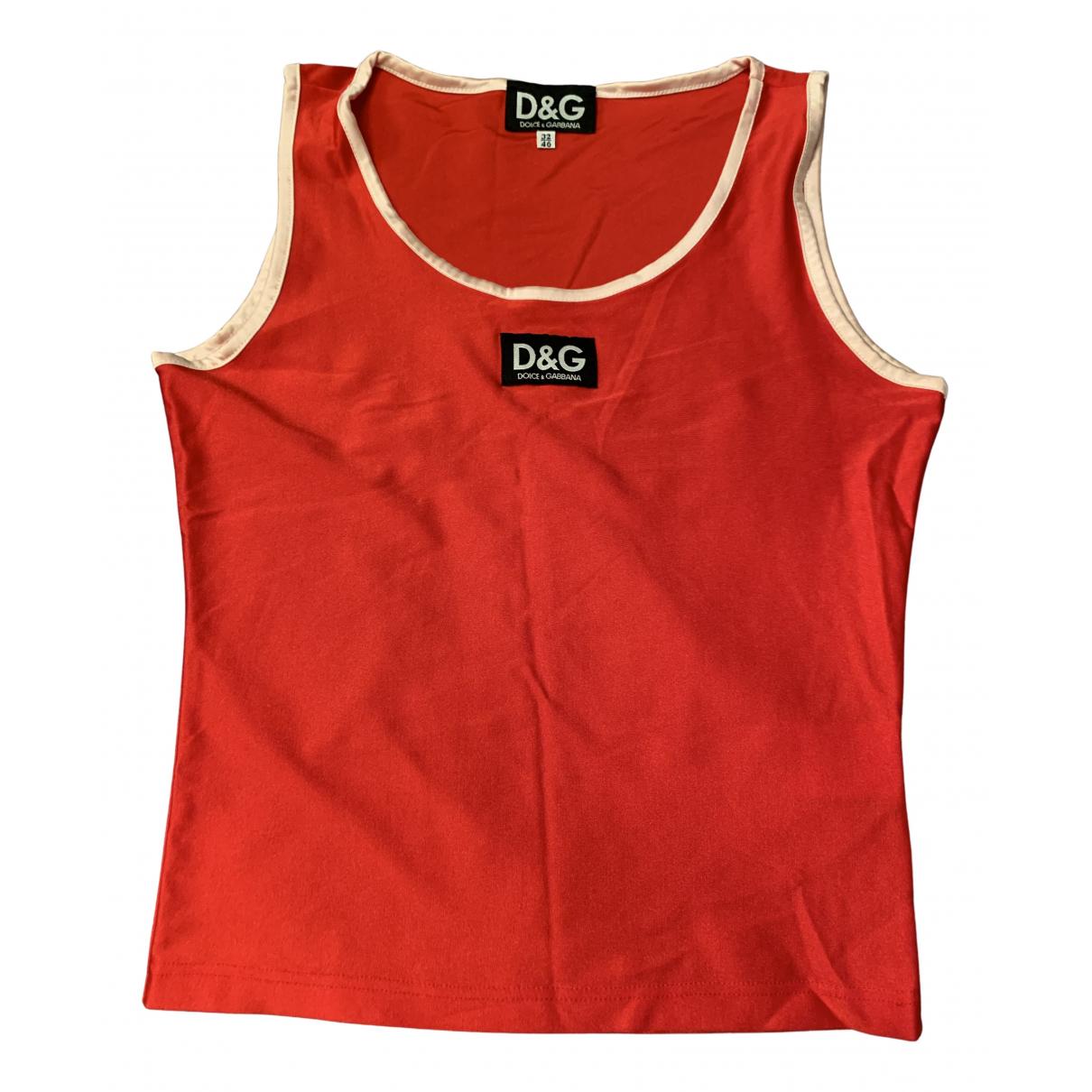 D&g - Top   pour femme - rouge