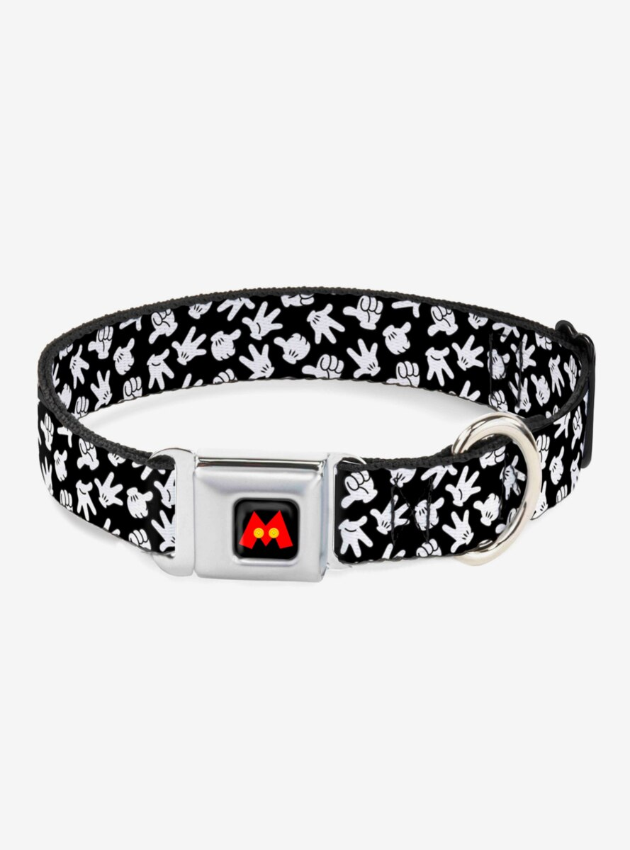 Disney Mickey Mouse Hand Gestures Scattered Dog Collar Seatbelt Buckle
