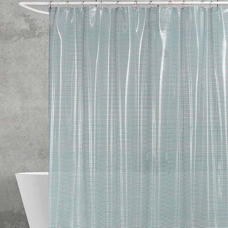 Creative Bath Linea Shower Curtain, One Size , Blue