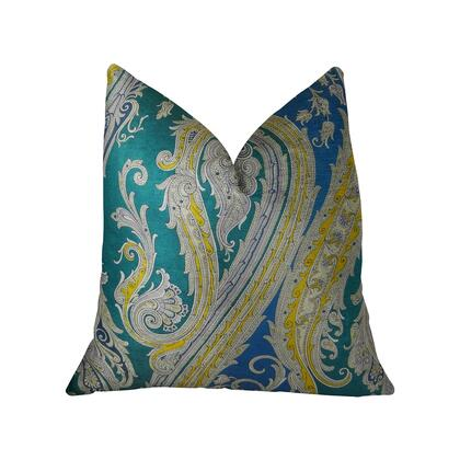 Annalise Collection PBRAZ361-2030-DP Double sided  20 x 30 Queen Plutus Annalise Blue Yellow and Green Handmade Luxury