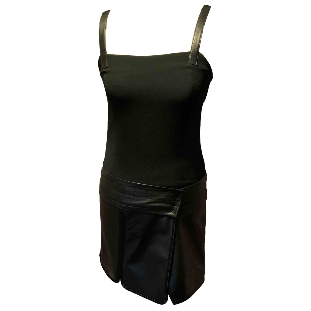 Rag & Bone \N Kleid in  Schwarz Leder