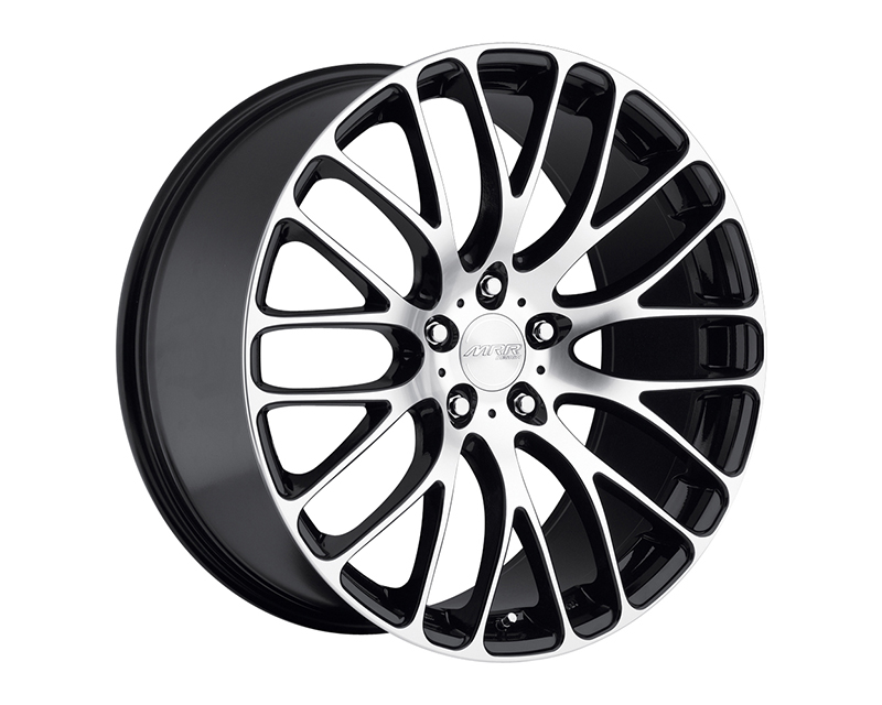 MRR Design Black Machined Face HR6 Wheel 20x10.5