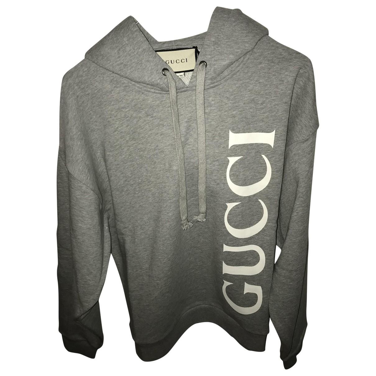 Gucci \N Pullover.Westen.Sweatshirts  in  Grau Baumwolle