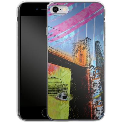 Apple iPhone 6s Silikon Handyhuelle - Pop Brooklyn Bridge von Mark Ashkenazi