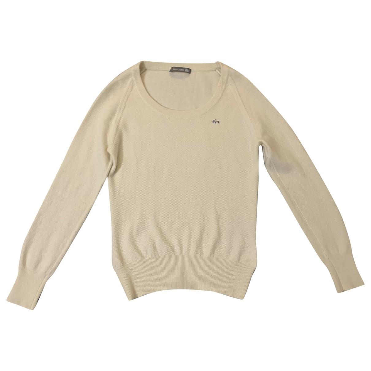 Lacoste \N Pullover in  Weiss Kaschmir