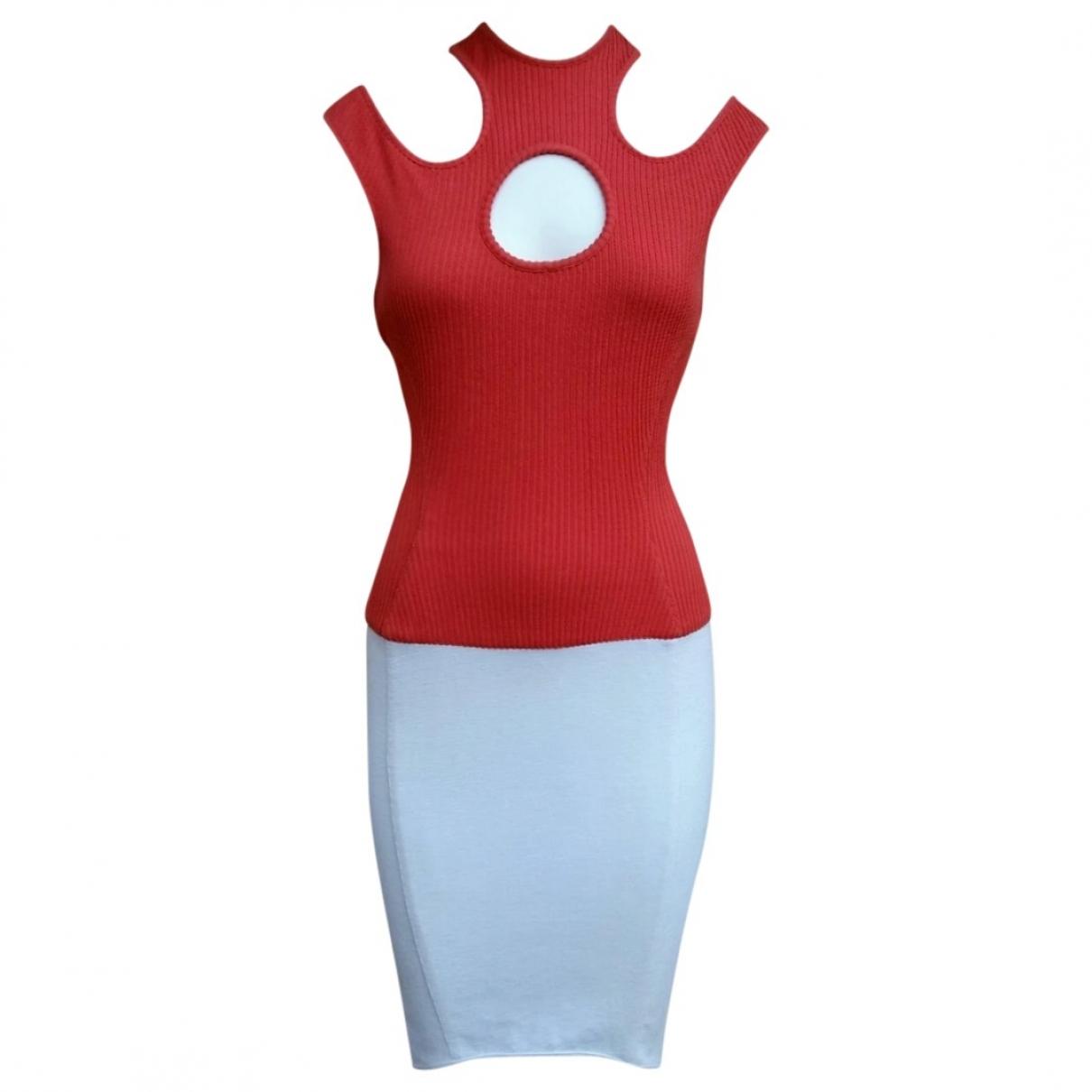 Thierry Mugler \N Kleid in  Bunt Baumwolle - Elasthan