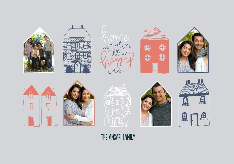 Family + Friends Framed Canvas Print, Black, 20x30, Home Décor -Happy Home