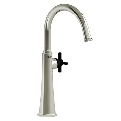 Momenti MMRDL01+PNBK-05 Single Hole Lavatory Faucet with + Cross Handle 0.5 GPM  in Polished