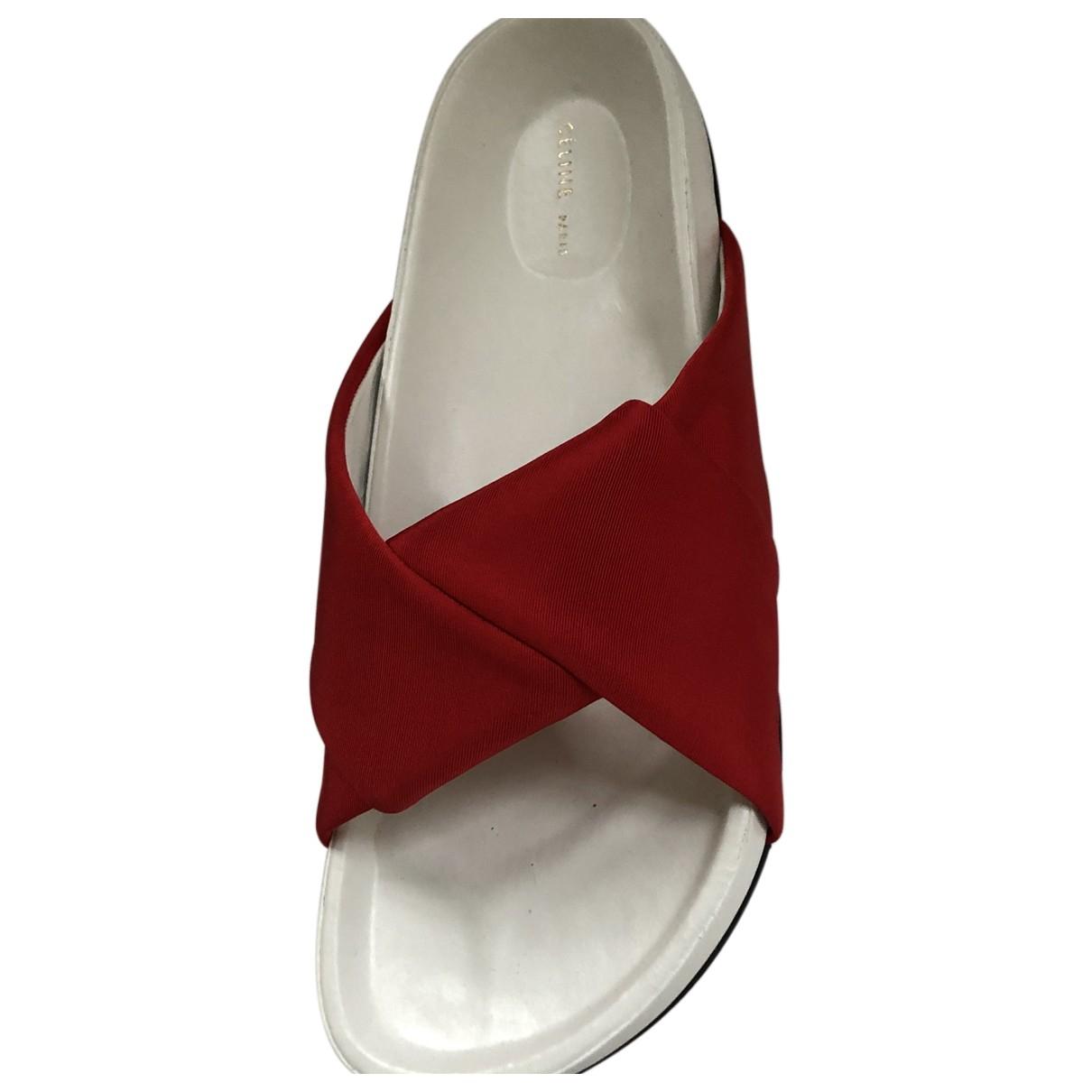 Celine - Sandales Twist  pour femme en cuir - rouge