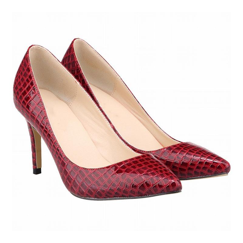 Ericdress Stiletto Heel Slip-On Alligator Pattern Sweet Thin Shoes