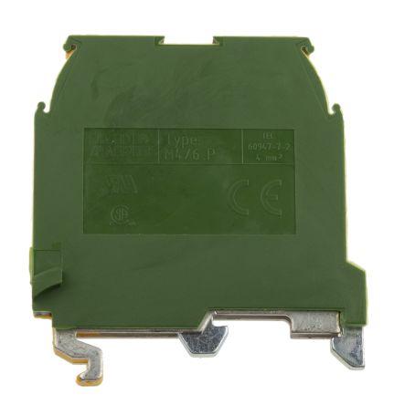 Entrelec , SNA, 800 V ac Earth Terminal Block, Screw Termination, Green/Yellow (5)