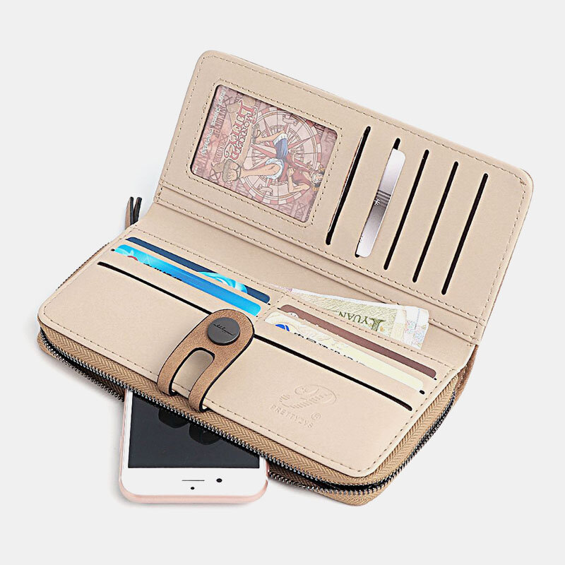 Women Casual Solid Long Wallet Card Holder