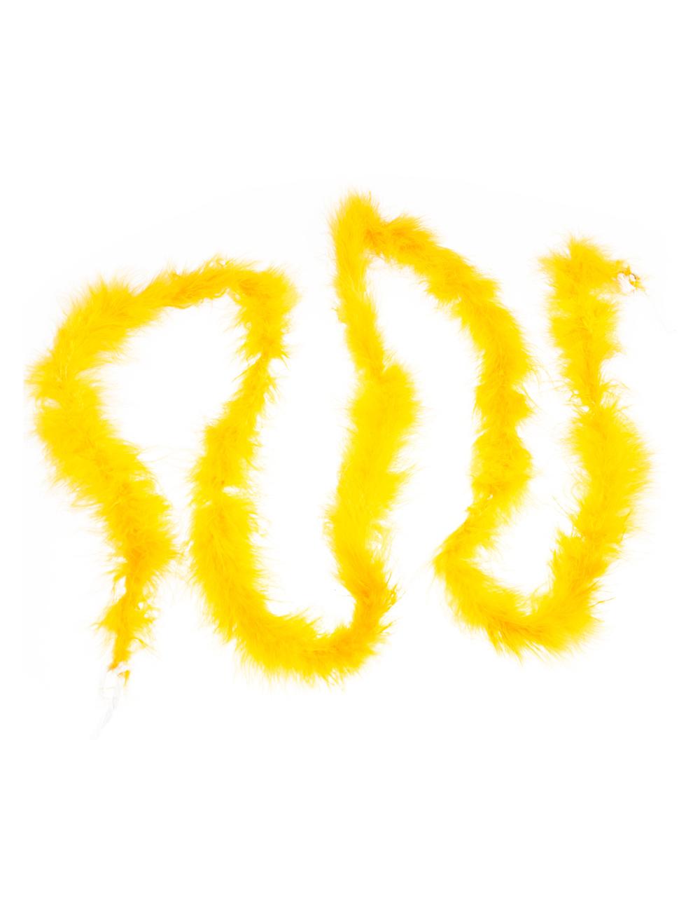 Kostuemzubehor Marabu Boa gelb 2m