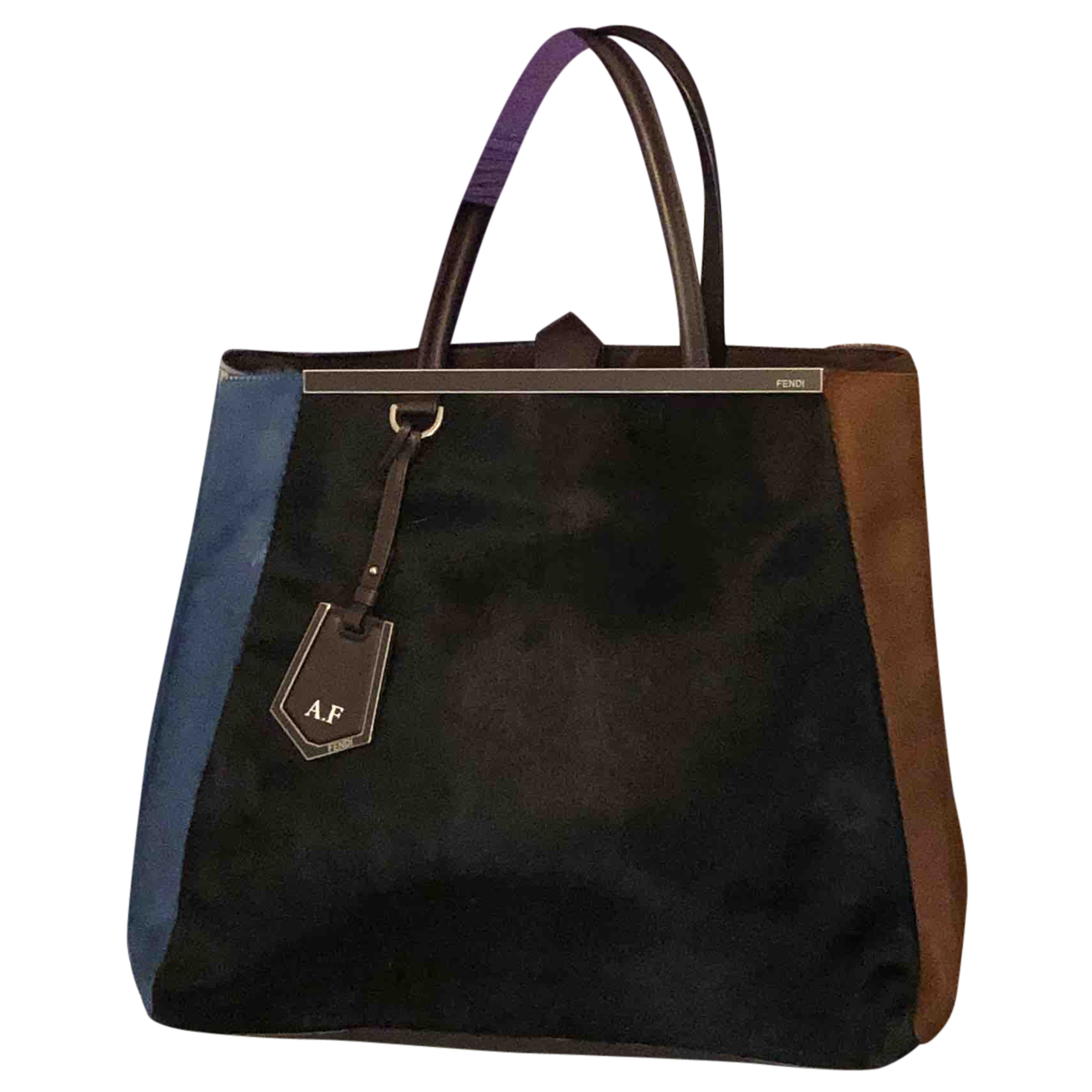Fendi 2Jours Multicolour Pony-style calfskin handbag for Women N