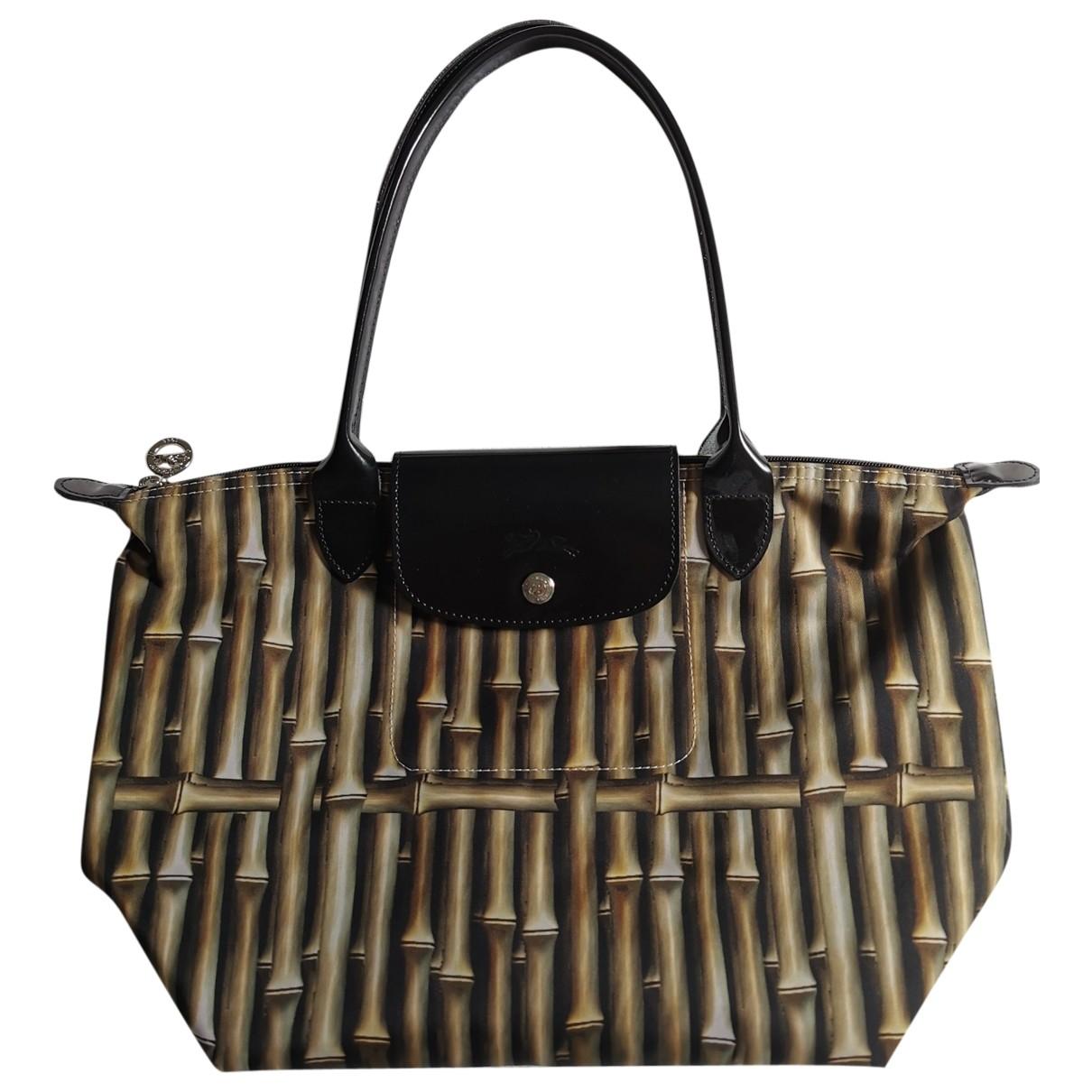 Longchamp Pliage  Handtasche in  Khaki Kunststoff
